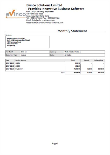 Invoice Statement Examples - Icuqhfx